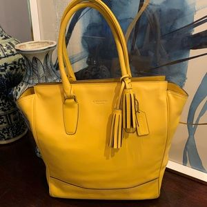 Coach Tote Sunflower Yellow Leather Purse
